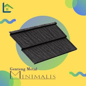 Genteng Metal Minimalis Elegant Ebony Black Tebal 0,30 mm