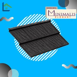 Genteng Metal Minimalis Elegant Ebony Black Tebal 0,35 mm
