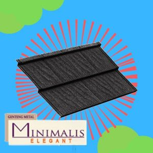 Genteng Metal Minimalis Elegant Ebony Black Tebal 0,40 mm