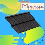 Genteng Metal Minimalis Elegan Ebony Black Tebal 0,50 mm