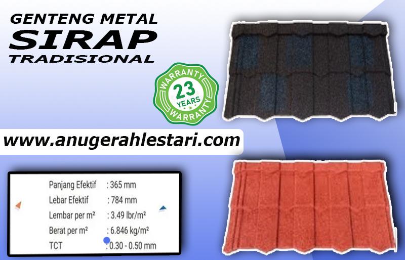 Atap Genteng Metal Sirap